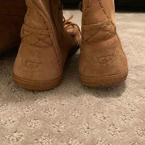 UGG Shoes - Ugg Australia Somaya Lace Up Boots - Chestnut 9